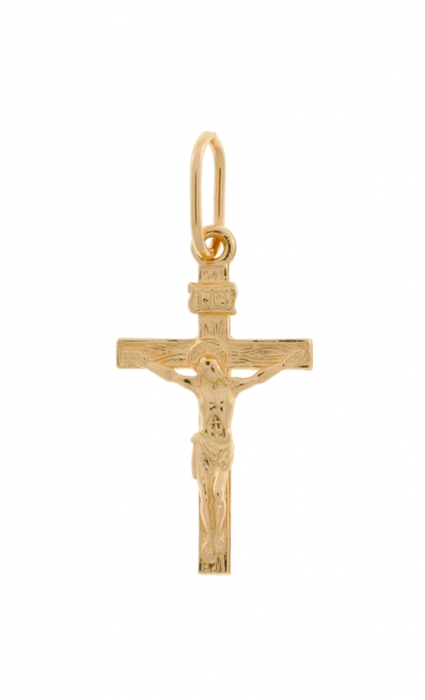Gold Slavic cross.