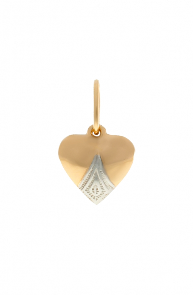 Gold pendant - heart.
