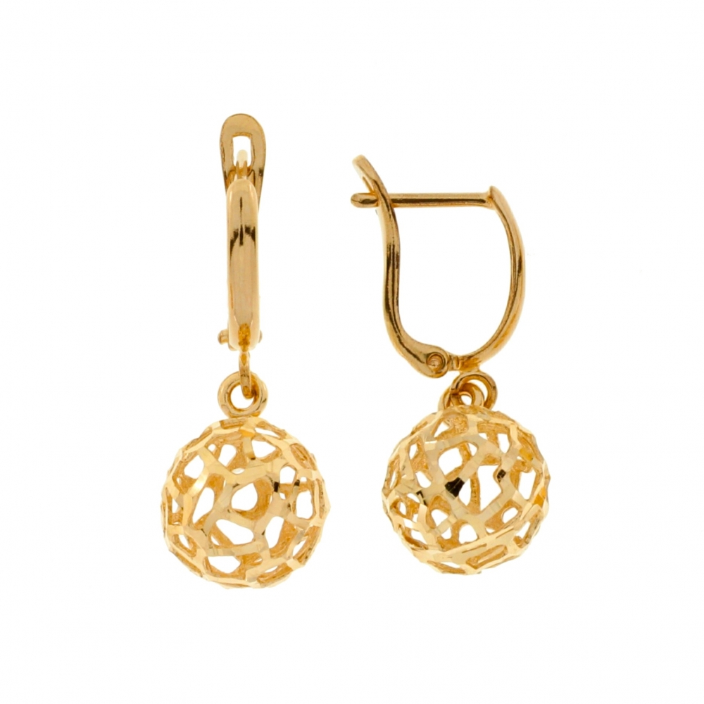 Women's gold earrings.